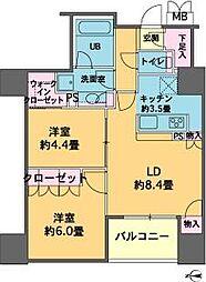 東京都品川区東品川4丁目の賃貸マンションの間取り