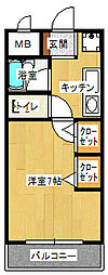 スペランツァ[2階]の間取り