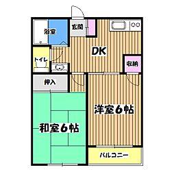 東京都昭島市田中町1丁目の賃貸マンションの間取り
