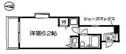 DETOM-1京大前2[201号室号室]の間取り