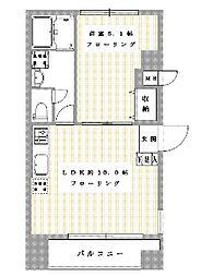 JR山手線 代々木駅 徒歩9分の賃貸マンション 1階1LDKの間取り