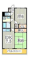 メイア天王台[5階]の間取り