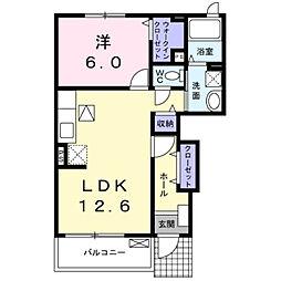 ターナリー伊倉III[1階]の間取り
