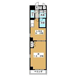 グランルージュ栄[3階]の間取り