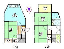 [タウンハウス] 神奈川県横須賀市追浜町2丁目 の賃貸【/】の間取り