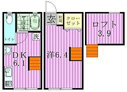 ティロフィナーレ松戸[A-2号室]の間取り