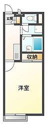 兵庫県神戸市北区八多町中の賃貸アパートの間取り