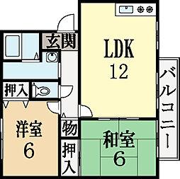 リオベルデ寺田[1階]の間取り