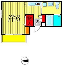 ヒューマンパレス南流山VII A棟[3階]の間取り