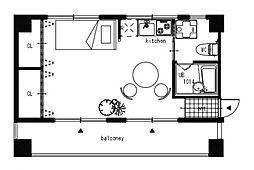 巣鴨3丁目マンション[3階]の間取り