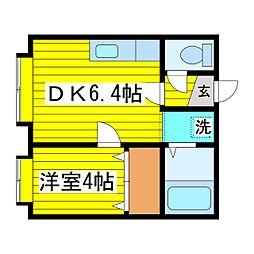 北海道札幌市東区北十条東6丁目の賃貸アパートの間取り