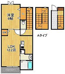 ベルクレスト[3階]の間取り