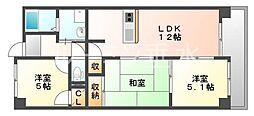 フォーラム城ヶ岡弐番館[2階]の間取り