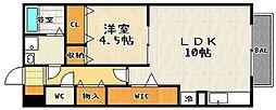 瀬田メディエートプラザ[C107号室]の間取り