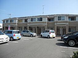 愛媛県松山市ひばりケ丘の賃貸アパートの外観