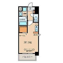 名鉄名古屋本線 山王駅 徒歩10分の賃貸マンション 3階ワンルームの間取り