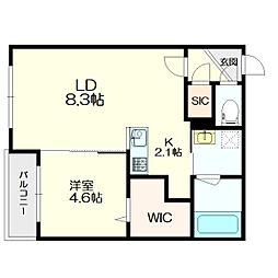 札幌市営東西線 南郷13丁目駅 徒歩7分の賃貸マンション 1階1LDKの間取り