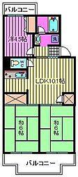 サニーサイド[4階]の間取り
