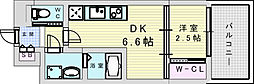 阪急宝塚本線 三国駅 徒歩5分の賃貸マンション 11階1DKの間取り