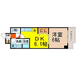 愛知県名古屋市中川区中郷2丁目の賃貸マンションの間取り