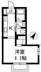 東京都板橋区前野町2丁目の賃貸アパートの間取り