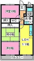 サンシャイン須玖[3階]の間取り