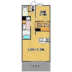 ケイコーマンション NO8 博多駅南[11階]の間取り