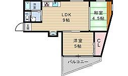 マンション山田[4階]の間取り