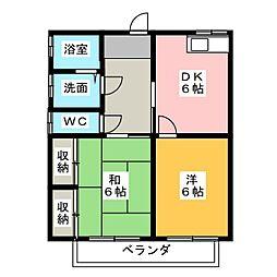 メゾンエトワール[1階]の間取り