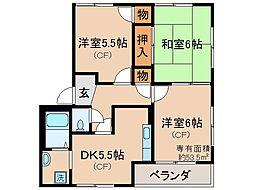 京都府京都市山科区西野今屋敷町の賃貸アパートの間取り