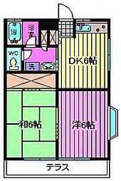ザ・プラザM[1階]の間取り