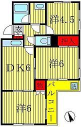 ラフィーヌ平賀[1階]の間取り