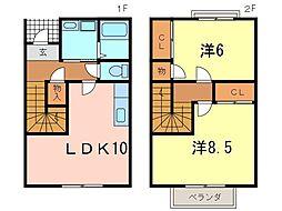 [テラスハウス] 愛知県安城市里町児池 の賃貸【/】の間取り