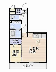 D-room トネリコテラス2[1階]の間取り