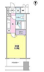 プロスペクト・グラーサ広尾[8階]の間取り