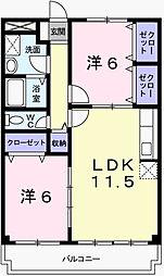 アクロポリス1[1階]の間取り