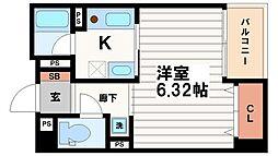 JUST南船場[6階]の間取り
