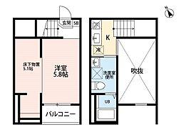clarte 内田橋 II(クラルテウチダバシツー)[2階]の間取り