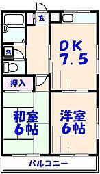 徳丸マンション第2[501号室]の間取り