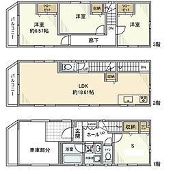 [一戸建] 神奈川県横浜市緑区台村町 の賃貸【/】の間取り