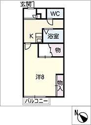 レオパレスShima[2階]の間取り