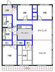 エーワイハイツ寺塚[302号室]の間取り
