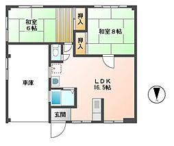 ハイム城山2[1階]の間取り