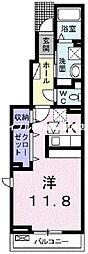 岡山県岡山市中区雄町丁目なしの賃貸アパートの間取り