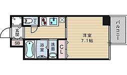 アール大阪グランデ[203号室]の間取り