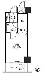神奈川県横浜市中区蓬莱町1丁目の賃貸マンションの間取り