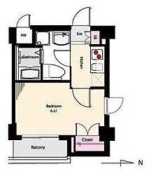 ベルグレードOM[2階]の間取り