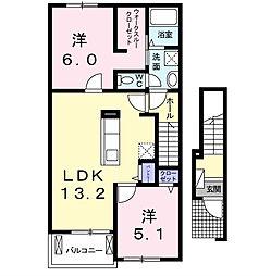 フランメゾンII[2階]の間取り