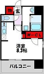 仮)LANDIC 美野島3丁目 4階1Kの間取り