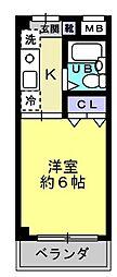 スプリング日吉[3階]の間取り